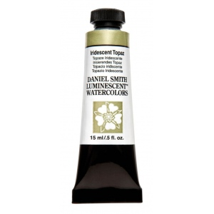 Daniel Smith Extra Fine™ Watercolor 15ml Iridescent Topaz: Metallic, Tube, 15 ml, Watercolor, (model 284640023), price per tube