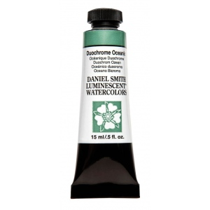 Daniel Smith Extra Fine™ Watercolor 15ml Duochrome Oceanic: Metallic, Tube, 15 ml, Watercolor, (model 284640029), price per tube