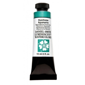 Daniel Smith Extra Fine™ Watercolor 15ml Duochrome Aquamarine: Metallic, Tube, 15 ml, Watercolor, (model 284640030), price per tube