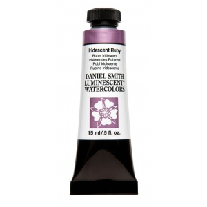 Daniel Smith Extra Fine™ Watercolor 15ml Iridescent Ruby: Metallic, Tube, 15 ml, Watercolor, (model 284640032), price per tube