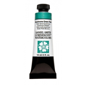 Daniel Smith Extra Fine™ Watercolor 15ml Duochrome Green Pearl: Metallic, Tube, 15 ml, Watercolor, (model 284640040), price per tube