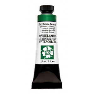 Daniel Smith Extra Fine™ Watercolor 15ml Duochrome Emerald: Metallic, Tube, 15 ml, Watercolor, (model 284640042), price per tube