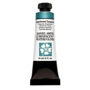 Daniel Smith Extra Fine™ Watercolor 15ml Duochrome Turquoise: Metallic, Tube, 15 ml, Watercolor, (model 284640043), price per tube