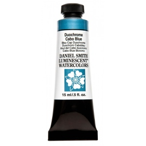 Daniel Smith Extra Fine™ Watercolor 15ml Duochrome Cabo Blue: Metallic, Tube, 15 ml, Watercolor, (model 284640044), price per tube