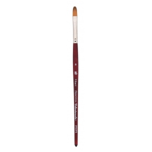 Princeton™ Velvetouch™ Synthetic Mixed Media Filbert 6 Brush: Short Handle, Luxury Synthetic, Filbert, 6, Multi, (model 3950FB6), price per each
