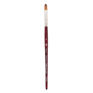 Princeton™ Velvetouch™ Synthetic Mixed Media Filbert 8 Brush: Short Handle, Luxury Synthetic, Filbert, 8, Multi, (model 3950FB8), price per each