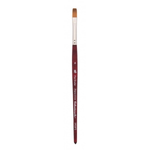 Princeton™ Velvetouch™ Synthetic Mixed Media Flat Shader 6 Brush: Short Handle, Luxury Synthetic, Flat Shader, 6, Multi, (model 3950FS6), price per each
