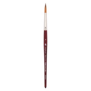 Princeton™ Velvetouch™ Synthetic Mixed Media Long Round 10 Brush: Short Handle, Luxury Synthetic, Long Round, 10, Multi, (model 3950LR10), price per each