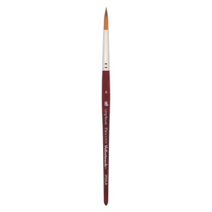Princeton™ Velvetouch™ Synthetic Mixed Media Long Round 12 Brush: Short Handle, Luxury Synthetic, Long Round, 12, Multi, (model 3950LR12), price per each