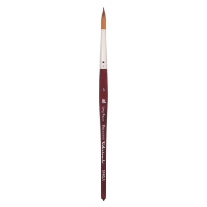 Princeton™ Velvetouch™ Synthetic Mixed Media Long Round 6 Brush: Short Handle, Luxury Synthetic, Long Round, 6, Multi, (model 3950LR6), price per each