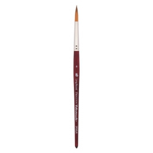 Princeton™ Velvetouch™ Synthetic Mixed Media Long Round 8 Brush: Short Handle, Luxury Synthetic, Long Round, 8, Multi, (model 3950LR8), price per each