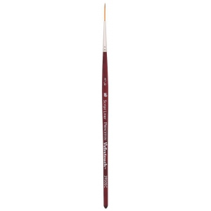 Princeton™ Velvetouch™ Synthetic Mixed Media Script Liner 2/0 Brush: Short Handle, Luxury Synthetic, Script Liner, 20, Multi, (model 3950SC20), price per each