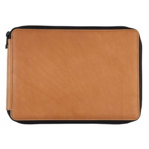 Global Art Materials™ Leather Pencil Case Saddle Brown: Brown, Leather, (model 412120), price per each