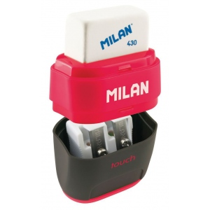 Milan® Compact Duo Sharpener/Eraser Display: Two, Manual, (model 4706116D), price per each