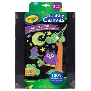 Crayola Black Creativity Canvas Boards
