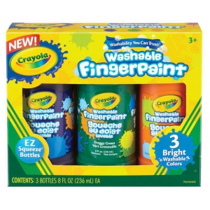 Crayola Washable Fingerpaint Secondary Set