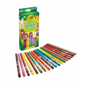 Crayola® Doodle Scents Markers: Assorted, Scented Marker, Washable, (model 58-5070), price per set