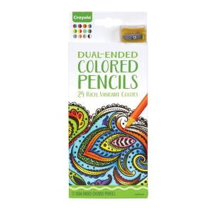Crayola® Aged Up Colored Pencils Dual-Ended 12-Set: Multi, Multi, 12 Pencils, Colored, (model 68-6812), price per each