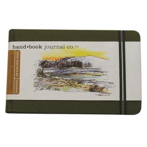 "Hand Book Journal Co.™ Travelogue Series Artist Journal 3.5"" x 5.5"" Pocket Landscape Cadmium Green: Green, 128 Sheets, 3 1/2"" x 5 1/2"", Heavyweight, (model 721223), price per each"