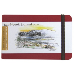 "Hand Book Journal Co.™ Travelogue Series Artist Journal 3.5"" x 5.5"" Pocket Landscape Vermillion Red: Red/Pink, 128 Sheets, 3 1/2"" x 5 1/2"", Heavyweight, (model 721224), price per each"