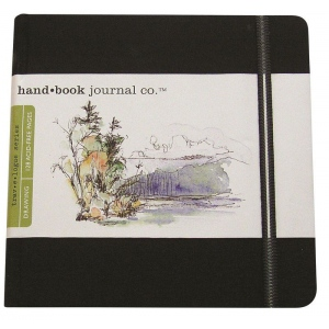 "Hand Book Journal Co.™ Travelogue Series Artist Journal 5.5"" x 5.5"" The Square Ivory Black: Black/Gray, 128 Sheets, 5 1/2"" x 5 1/2"", Heavyweight, (model 721331), price per each"