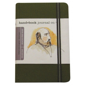 "Hand Book Journal Co.™ Travelogue Series Artist Journal 8.25"" x 5.5"" Large Portrait Cadmium Green: Green, 128 Sheets, 5 1/2"" x 8 1/4"", Heavyweight, (model 721413), price per each"