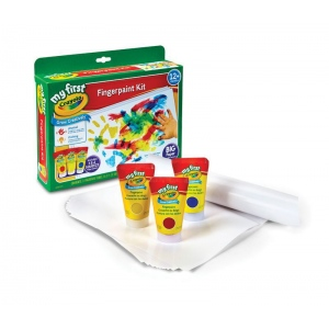 My First Crayola® Grow Creatively™ Finger Paint Kit: 2+, Assorted, Bottle, 10 Sheets, 3-Pack, 3 oz, Washable, (model 81-1368), price per each