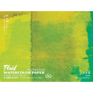 Fluid™ Easy-Block™ Hot Press Watercolor Paper Pads