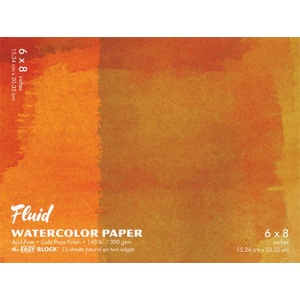 Fluid™ Easy-Block™ Cold Press Watercolor Paper Pads