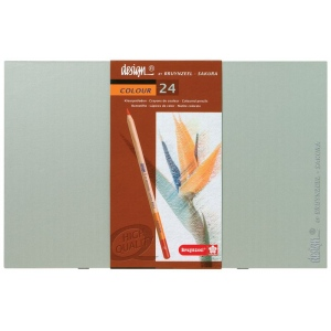 Bruynzeel® Design® Colored Pencil 24-Set: Multi, 3.8mm, Drawing, (model 8805H24), price per set