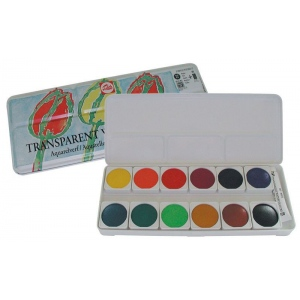 Royal Talens Talens® 12-Color Transparent Gouache Set; Color: Multi; Format: Pan, Tube; Size: 5 ml; Type: Watercolor; (model 95930012), price per each