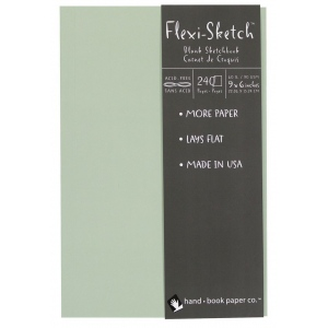 "Hand Book Journal Co.™ Flexi-Sketch™ Soft-Cover Sketchbook 9"" x 6"" Portrait Mist: Blue, 240 Sheets, 6"" x 9"", 60 lb, (model 969140), price per 240 Sheets pad"