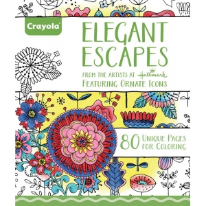 "Crayola® Aged Up Coloring Book Elegant Escapes: Book, 8 1/2"" x 10"", (model 99-2023), price per each"
