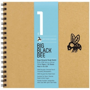 Bee Paper® Big Black Bee Bogus Recycled Rough Sketch Paper Pad