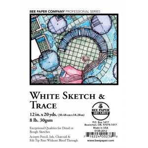 Bee Paper® White Sketch & Trace Roll