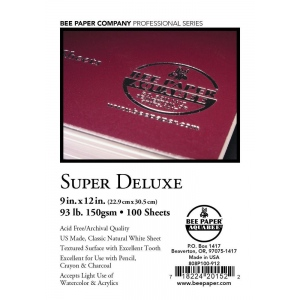 "Bee Paper® Super Deluxe Paper Sheets 9"" x 12"": White/Ivory, Sheet, 100 Sheets, 9"" x 12"", Drawing, 93 lb, (model B808P100-912), price per 100 Sheets"