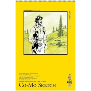 "Bee Paper® Co-Mo Sketch Pad 24"" x 36"": Wire Bound, White/Ivory, Pad, 30 Sheets, 24"" x 36"", Drawing, 80 lb"