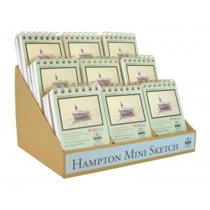 Bee Paper® The Hampton Mini Sketch Book Counter Display: Display, Sketching, (model B825SS-CD), price per each