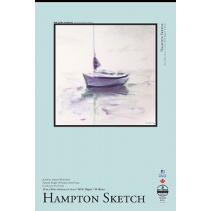 "Bee Paper® Hampton Sketch Pad 24"" x 36"": Tape Bound, White/Ivory, Pad, 50 Sheets, 24"" x 36"", Sketching, 60 lb, (model B825T50-2436), price per 50 Sheets pad"