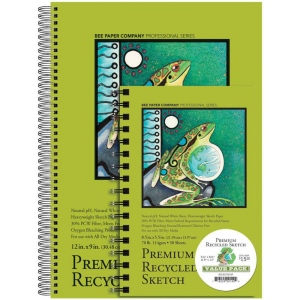 Bee Paper® Premium Recycled Sketch Value Pack: White/Ivory, Pad, Sketching, (model B837S50-VP), price per each