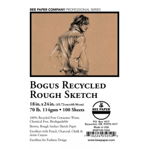 "Bee Paper® Bogus Recycled Rough Sketch Sheets 18"" x 24"": Brown, Sheet, 100 Sheets, 18"" x 24"", Sketching, 70 lb, (model B892P100-1824), price per 100 Sheets"