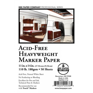 Bee Paper® Acid-Free Heavyweight Marker Paper Sheets