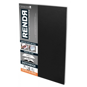 "Crescent® RENDR® All Media No Show Thru Paper Soft Cover Sketchbook 3 1/2"" x 5 1/2"": Glue Bound, White/Ivory, Book, 3 1/2"" x 5 1/2"", Smooth, Drawing, Marker, 110 lb, (model C12-00019), price per each"