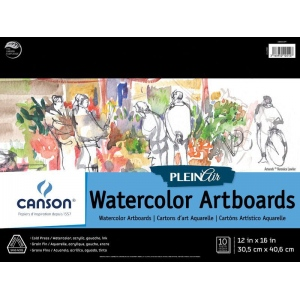 Canson® Plein Air Plein Air Watercolor Artboard Pad (Glue Bound)