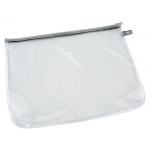 "Alvin® Clear Front Mesh Bag 10"" x 13"": Black/Gray, Clear, Mesh, Vinyl, 10"" x 13"", (model CFB1013), price per each"