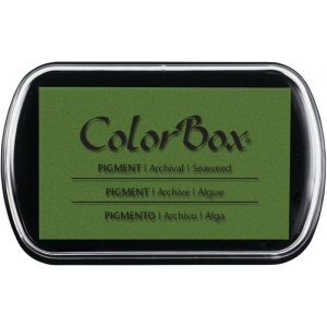 "ColorBox® Full Size Ink Pad Seaweed: Green, Pad, Pigment, 2 1/2""l x 4""w x 1/4""h"