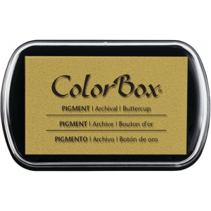 "ColorBox® Full Size Ink Pad Buttercup: Yellow, Pad, Pigment, 2 1/2""l x 4""w x 1/4""h"