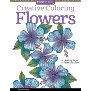 "Design Originals Flowers Creative Coloring Books for Adults: Book, 8 1/2"" x 11"", (model DO5505), price per each"