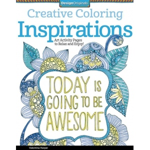 "Design Originals Inspirations Creative Coloring Books for Adults: Book, 8 1/2"" x 11"", (model DO5507), price per each"