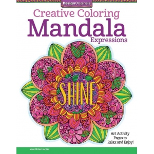 "Design Originals Mandal Expressions Creative Coloring Books for Adults: Book, 8 1/2"" x 11"", (model DO5540), price per each"